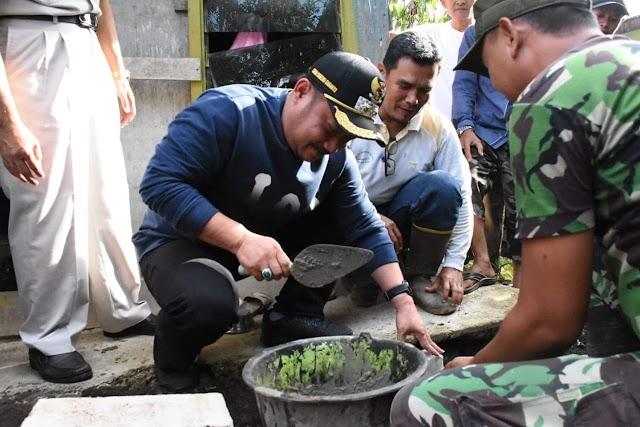 Bangun Rumah Warga Kurang Mampu, Kodim 0313 Dapat Apresiasi Dari Plt Bupati Kampar