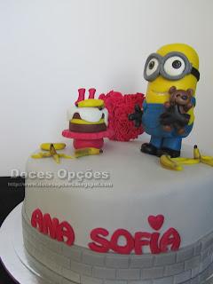minions bob birthday cake banana
