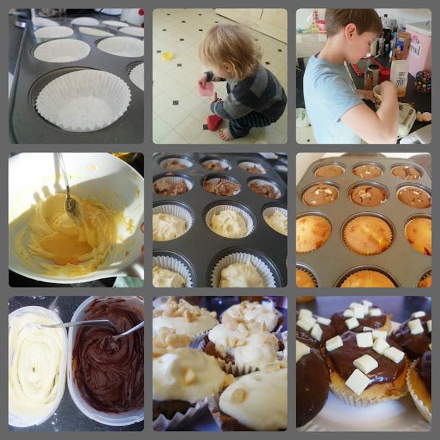 vanilla chocolate honeycomb easy cupcake baking with kids