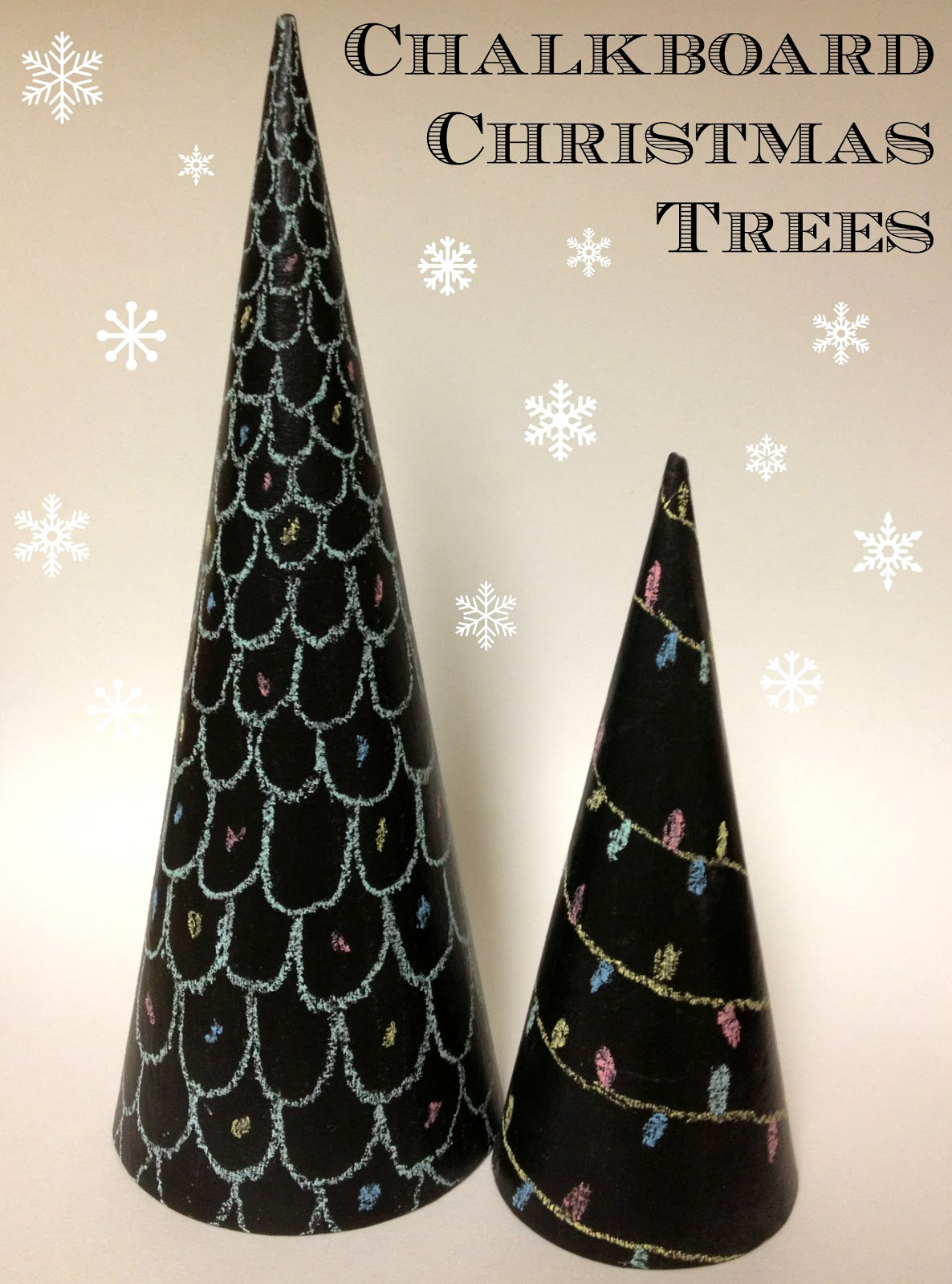Christmas Tree with Lauren – Chalkboard Christmas Trees