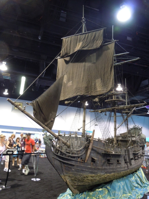 Black Pearl pirate ship film miniature