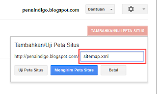 Submit Sitemap di Google Webmaster Tools terbaru