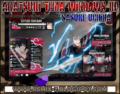 Theme Keren Windows XP [Sasuke Akatsuki]