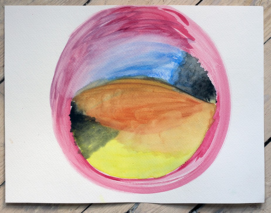 my finished watercolor about inner space