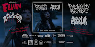 "PULMONARY FIBROSIS / ASSUR - split 10"" vinyl co-release tribute to Elvira & Mortician"