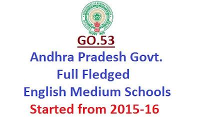 AP English Medium Schools, Full Fledged English Schools, GO.53