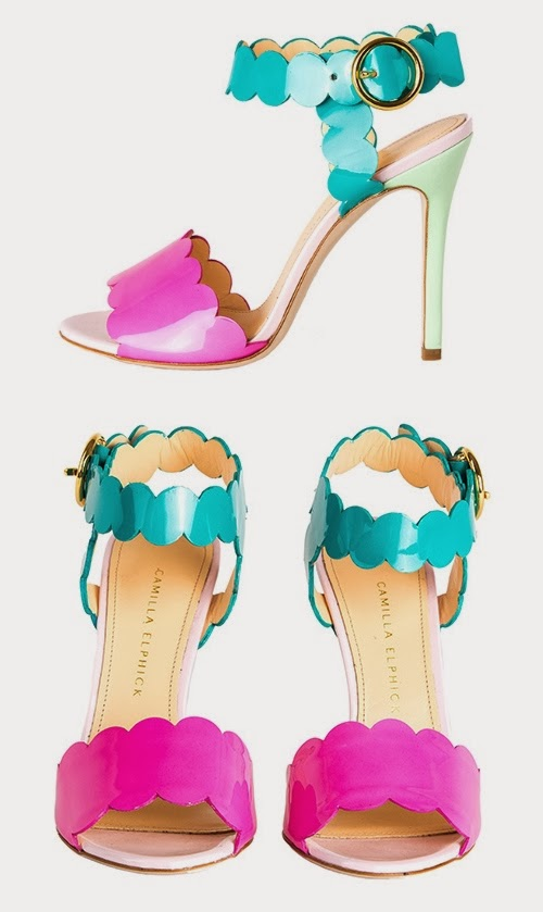 "Sandales ""3 Scoops"" de Camilla Elphick, Printemps-Eté 2014"