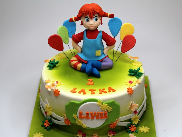Pippi Longstocking Birthday Cake in Chelsea, London