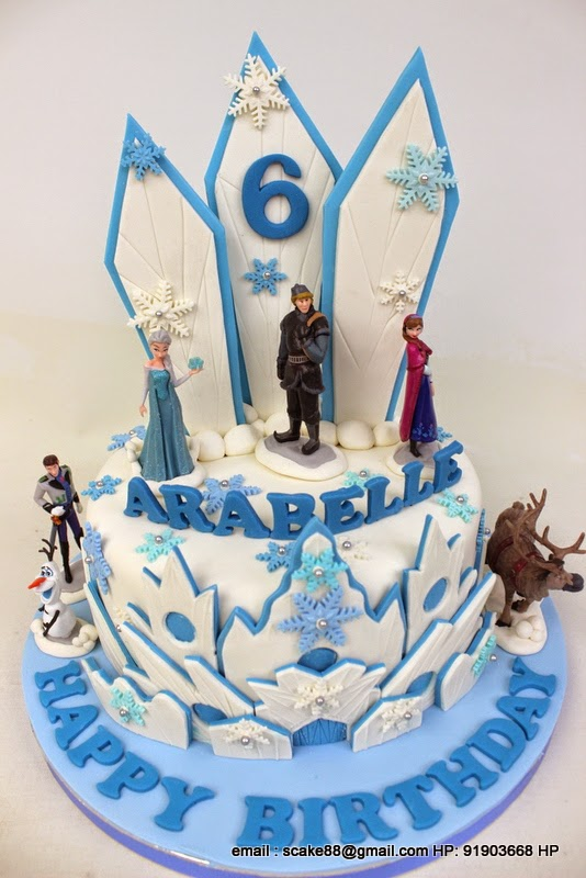 The Sensational Cakes FROZEN THEME DESIGN CAKE SNOW CAKE