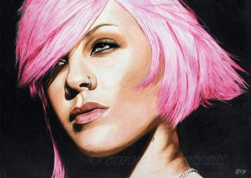 11-Pink-Corinne-Vuillemin-WIP-Color-Drawings-of-Actors-and-Animals-www-designstack-co