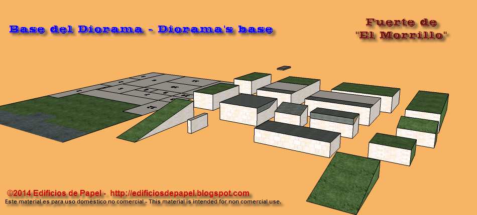 Piezas que forman la base del diorama