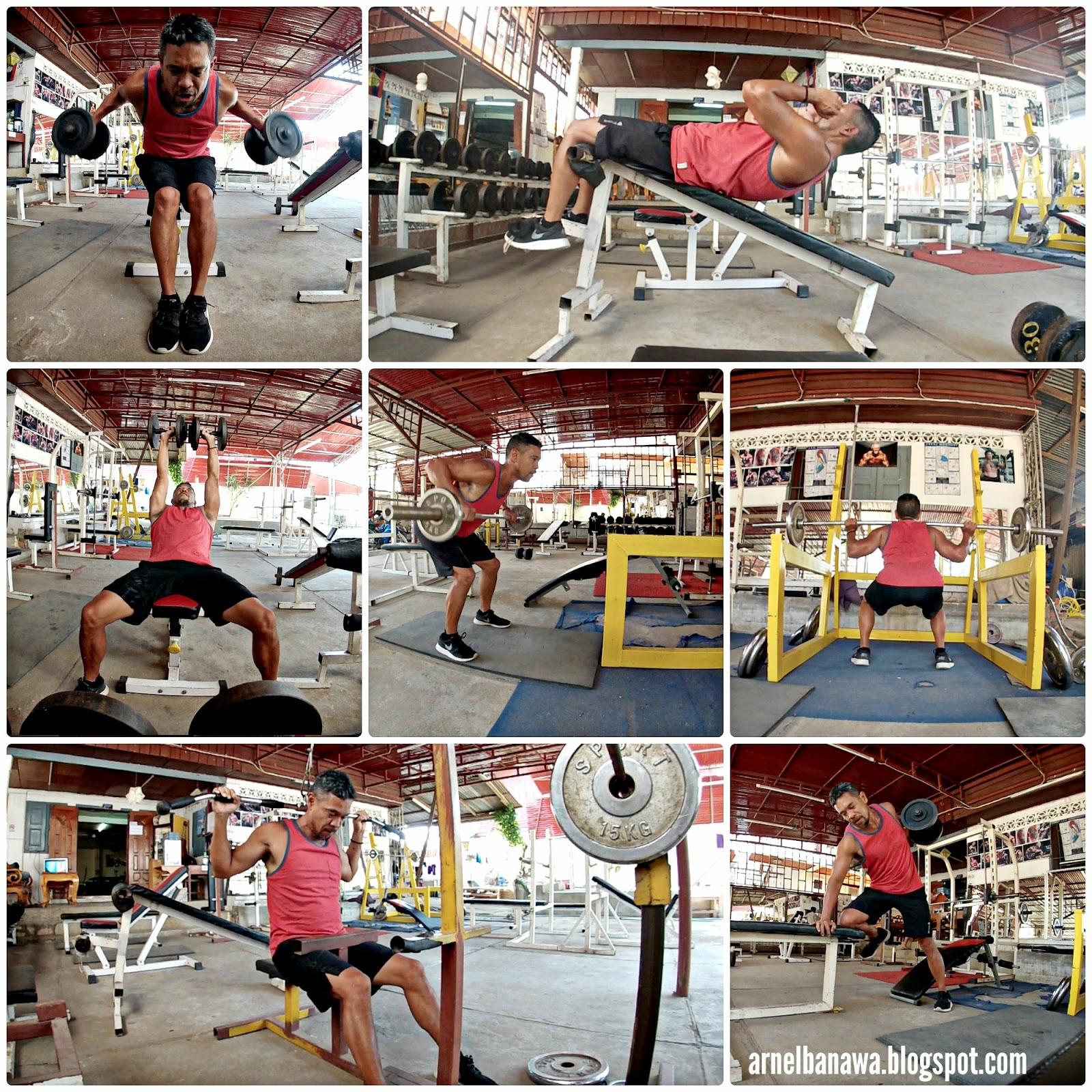 P90X Gym Workout in Luang Prabang Laos