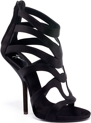 Giuseppe Zanotti black Suede Cage Sandals