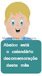 Calendário mensal de comemorações