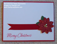 Poinsettia Card made with Stampin'UP!'s 5-Petal Punch and Red Glimmer Paper