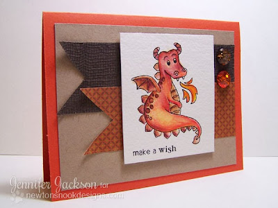 Fire Dragon card using Magical Dreams Stamp set