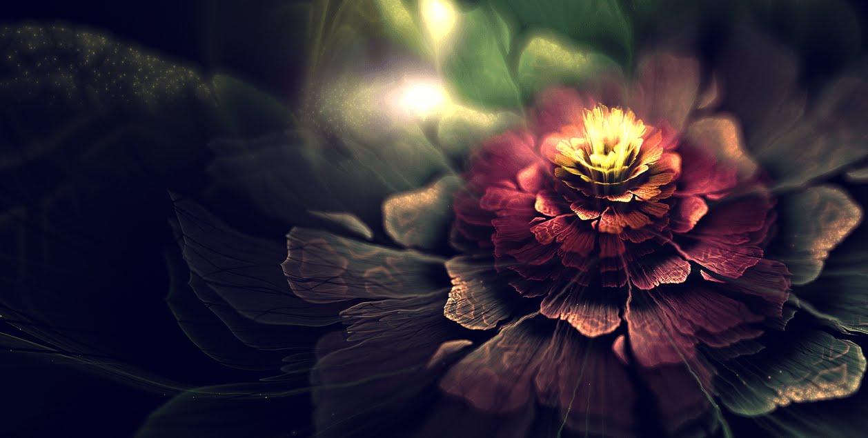 なんだか美しいお花のようなデジタルアート