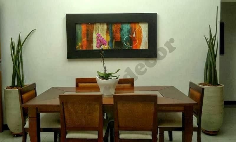 Quadro De Fotos Na Sala De Jantar ~ artedecor sala de jantar decorada com lança quadros abstrato