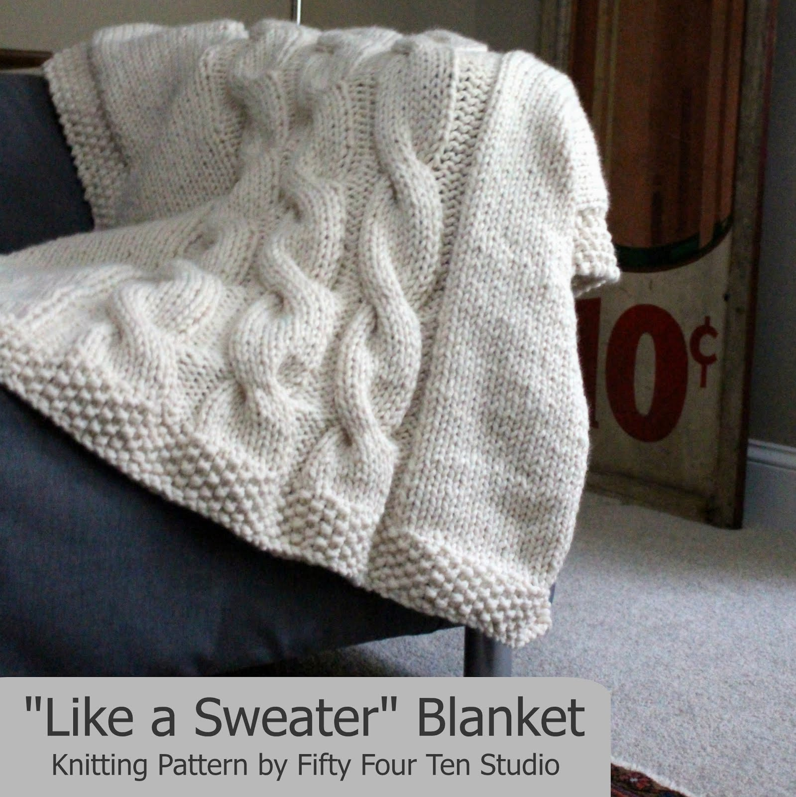 """Like a Sweater"" Cable Blanket"