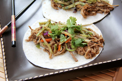 Snappy Gourmet: General Tso's Slow Cooker Pork Tacos & Orange Broccoli Slaw