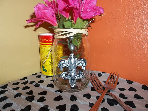 The finished crawfish fleur de lis vase- Tanya Ruffin