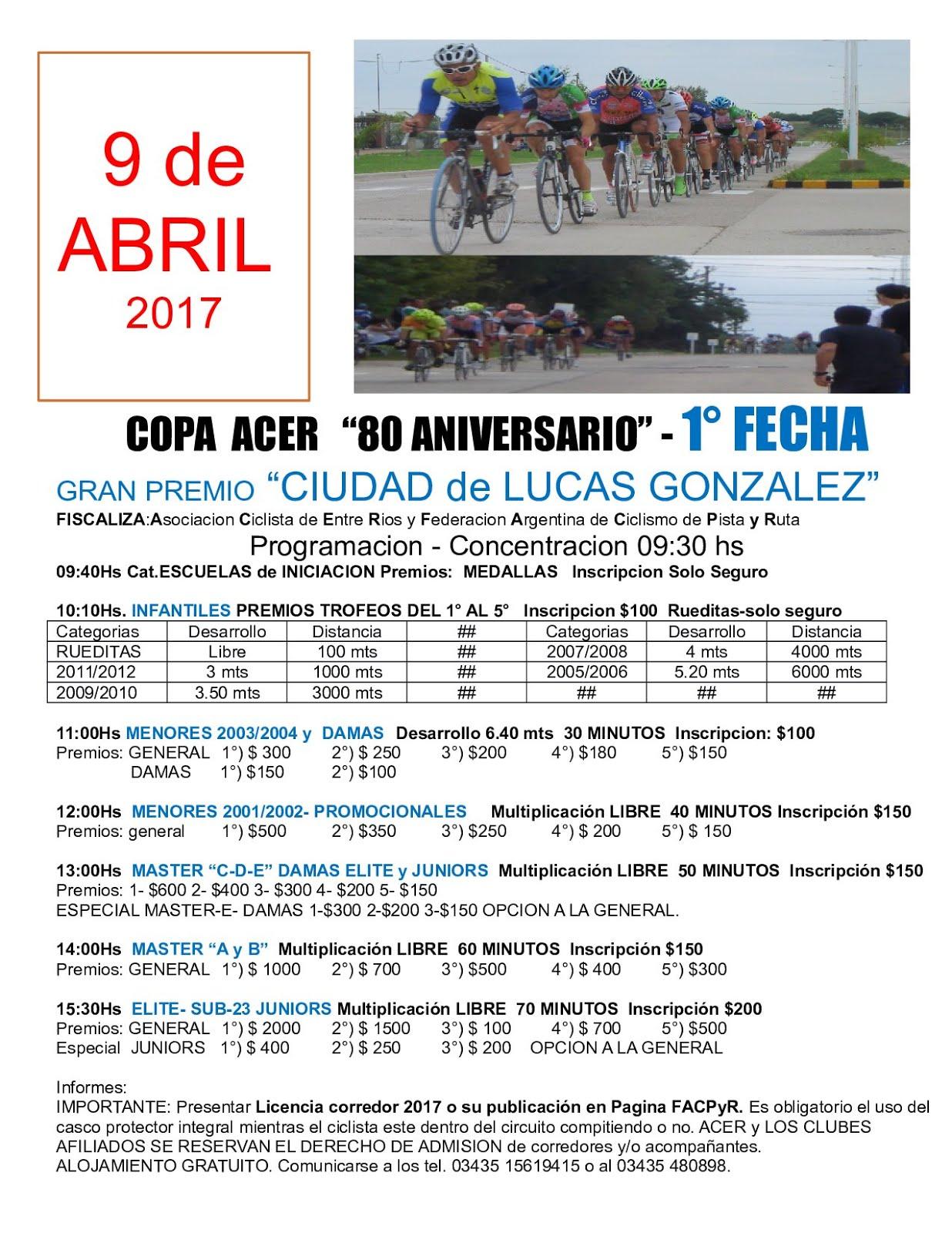 Copa Entre Rios - 1 Fecha