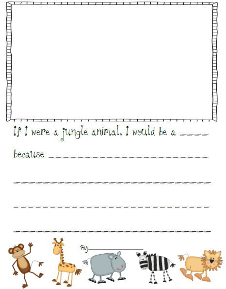 Animal writing paper