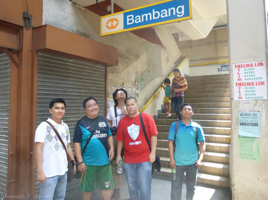 F4L pilgrims at LRT - Bambang Station