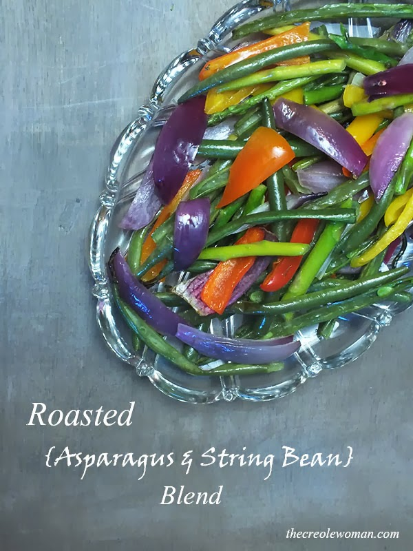 Roasted Asparagus and String Bean Blend | thecreolewoman.com