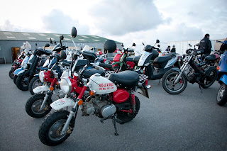Charity motorcycle run. Lands end to John o'groats