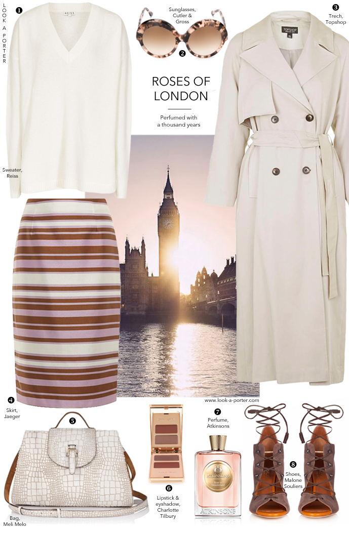 What to wear to London fashion week outfit inspiration, best looks, how to mix high street with designer fashion. Malone Souliers shoes, Reiss, Jaeger, Topshop, Meli Melo bags, Charlotte Tilbury makeup, Atkinsons perfume, via www.look-a-porter.com style and fashion blog / outfit inspiration daily