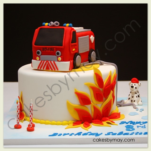 Cakes By Maylene: Fire Engine Birthday Cake