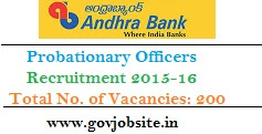 Andhra Bank PO Recruitment