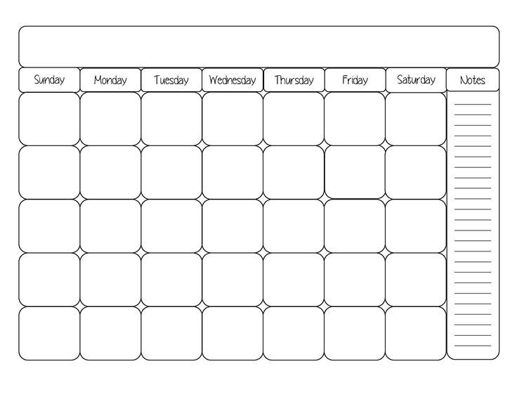 April  Monthly Calendar Printable Templates  Printable Calendar