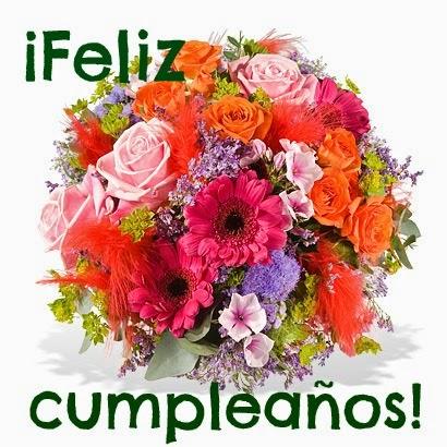 Tarjetas de Cumpleaños para Mujeres con Flores, parte 2