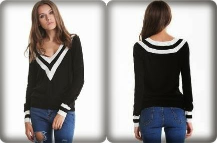 http://www.sheinside.com/Black-Deep-V-neck-Long-Sleeve-Contrast-Striped-Trim-Sweater-p-182318-cat-1734.html?aff_id=1285