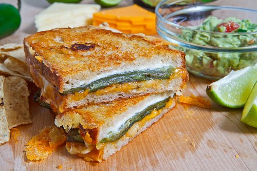 jalapeno popper inspired grilled cheese sandwich with roasted jalapeno ...