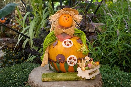Calabazas decoradas para halloween i parte - Calabazas pintadas y decoradas ...
