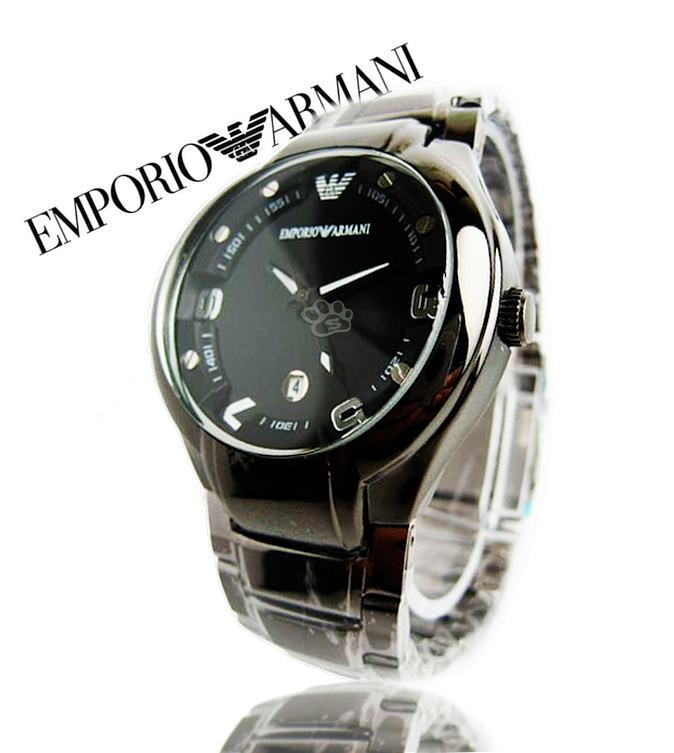 Jam Tangan Emporio Armani Pria model bulat tali rantai b588f24057