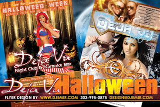 Deja Vu Halloween Party Week Flyer Design Denver