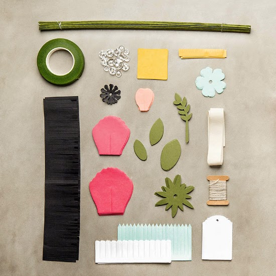 Contents included in Stampin' Up! Build a Bouquet Project Kit #papercrafts #DIY #crafts #StampinUp