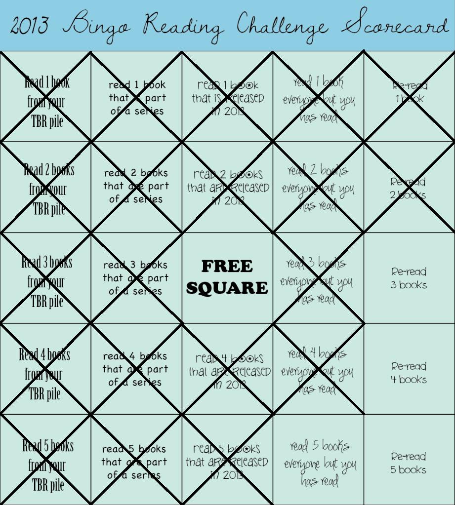 Challengepleted: 2013 Book Bingo Reading Challenge