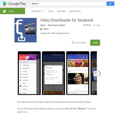 play google com - video downloader for facebook
