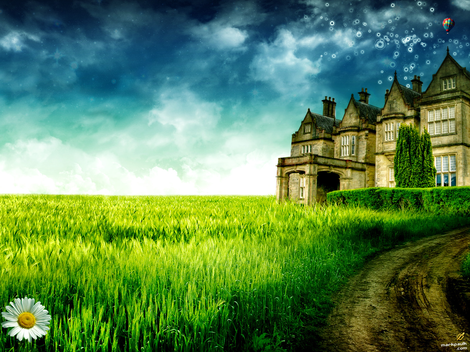 beautiful big house scenery wallpaper scenery backgrounds