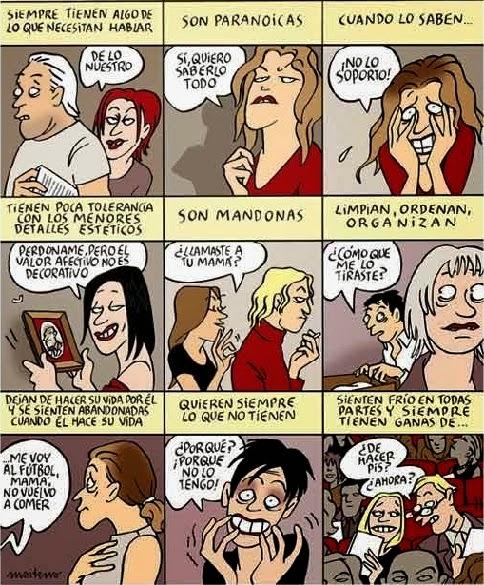 mujeres seres molestos