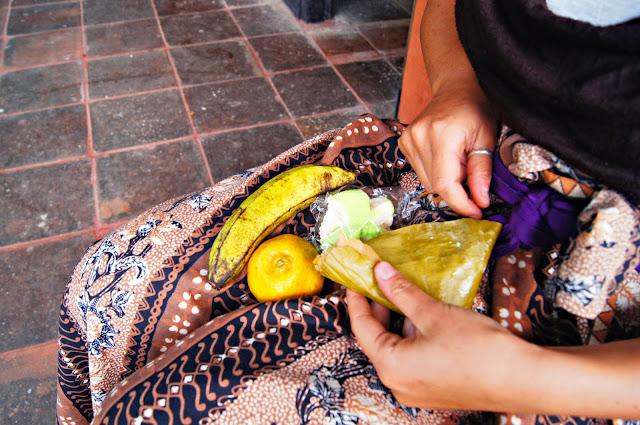 comida balinesa de las ofrendas