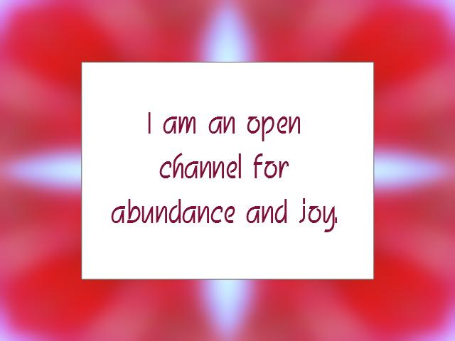 ABUNDANCE affirmation