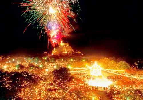 Corfu Fireworks Easter