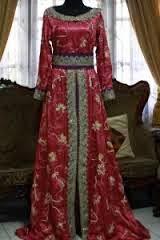 Baju pesta batik kombinasi brokat