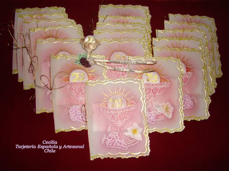 Como hacer tarjetas para la primera comuni n artesanales - Como hacer tarjetas para comunion ...